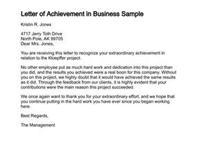 Explanation Letter For Not Achieving Sales Target Letter Of Congratulations On Business Achievement The Letter Sle