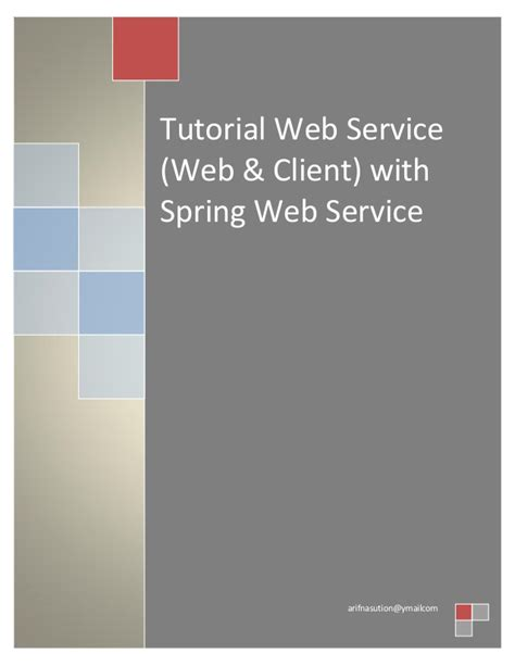 Tutorial On Web Services | tutorial web service web client with spring web services