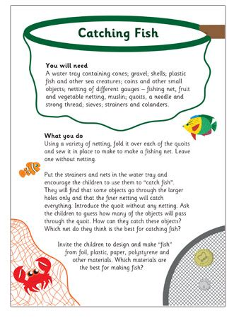 catching fish activity  early years primary