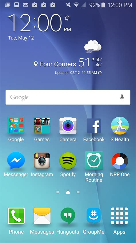 live themes galaxy s6 android how to alter the screen grid on the samsung