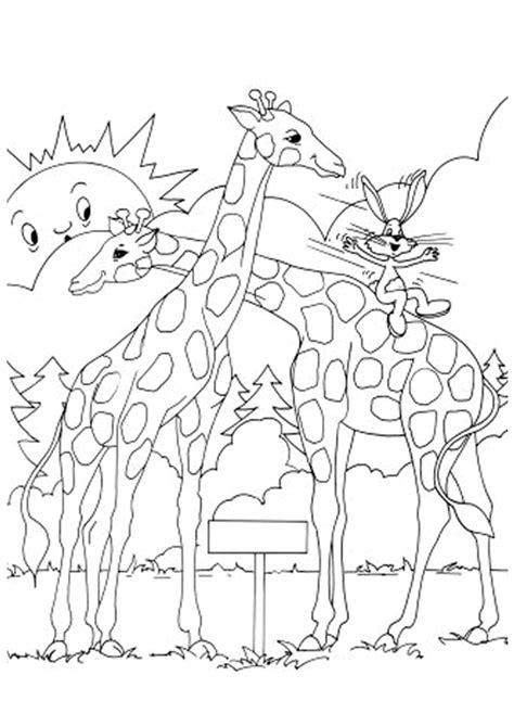 Coloriage dessin girafes sur Hugolescargot.com