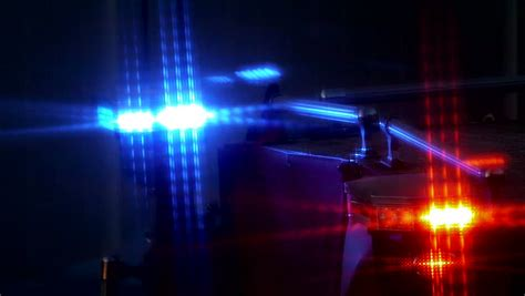 red blue police lights blue and red emergency lights stock footage video 3322151
