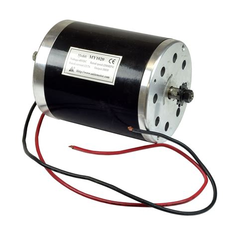 Lu Led Motor 10 Watt 48 volt 500 watt my1020 electric motor with 11 tooth 8 mm 05t chain sprocket scooter parts