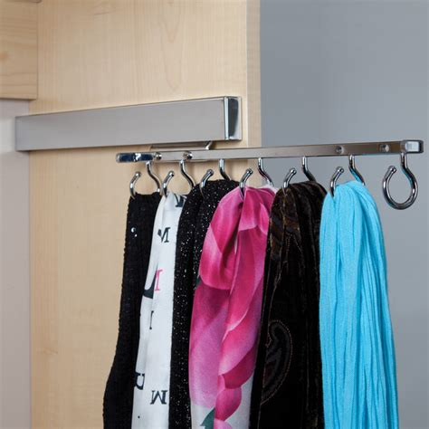 Scarves Closet by Deluxe Sliding Scarf Rack Closet Organizers Houston