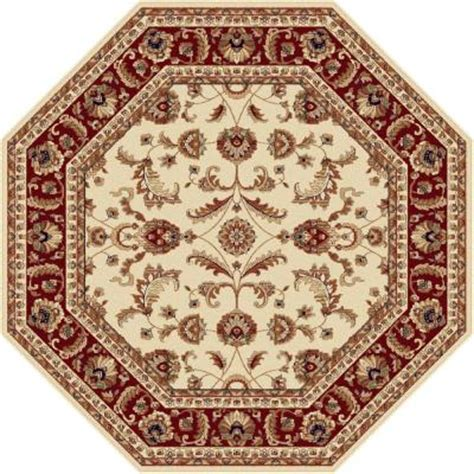 octagonal area rugs tayse rugs sensation beige 5 ft 3 in octagon transitional area rug 4792 ivory 6 octagon the