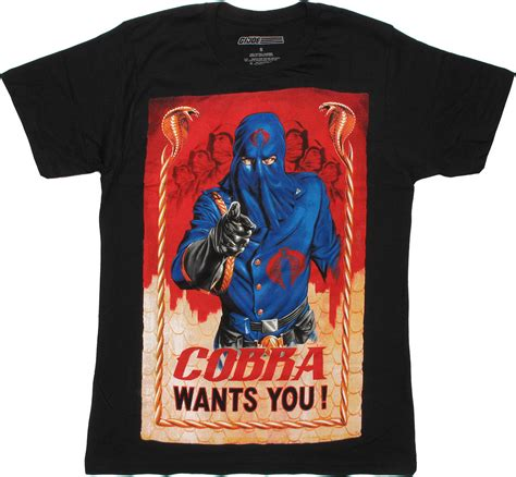T Shirt Cobra gi joe cobra wants you t shirt sheer