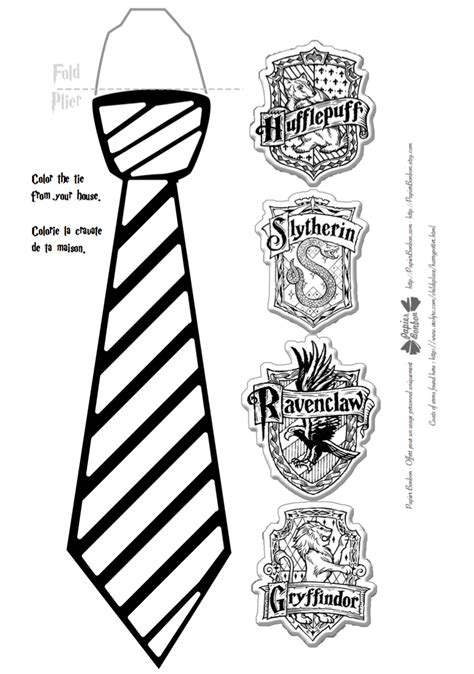 harry potter tie template harry potter house ties printable tie photo and image