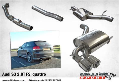 Milltek Exhaust Audi S3 by Audi S3 2 0t Full Turbo Back Exhaust System Ready
