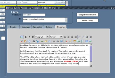 oracle forms and reports books glimpse at the oracle forms html rich text editor