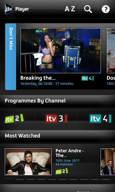 itv player for android itv player catch up service now available on android eurodroid