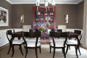 brown walls transitional dining room benjamin