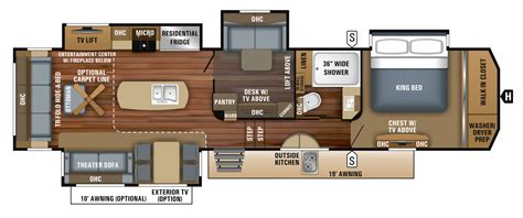 jayco pinnacle fifth wheel floor plans 2018 pinnacle luxury fifth wheel floorplans prices