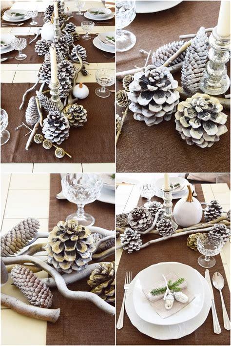 tischdeko weihnachten zapfen tischdeko f 252 r winter und weihnachten mit natur dekoidee