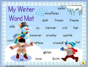 Winter Word Mat pin by on winter