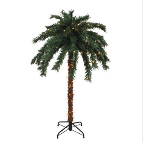6 Pre Lit Tropical Outdoor Summer Patio Palm Tree Clear Walmart Trees With Lights