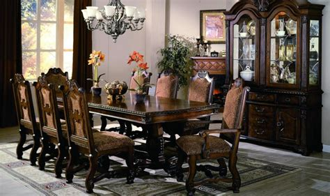 formal dining room sets with china cabinet neo renaissance formal dining room furniture set with optional china cabinet ebay