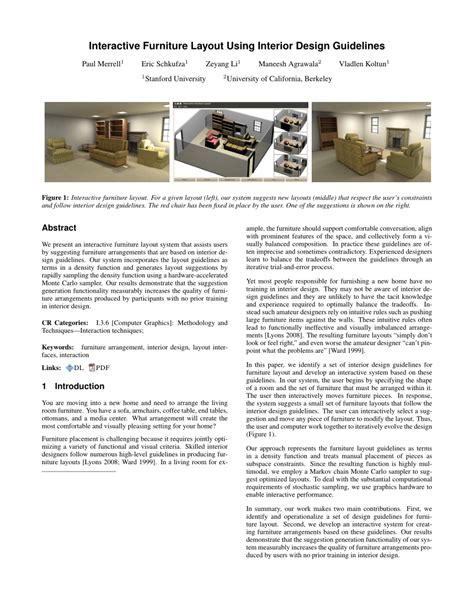 guidelines for layout design interactive furniture layout using pdf download available