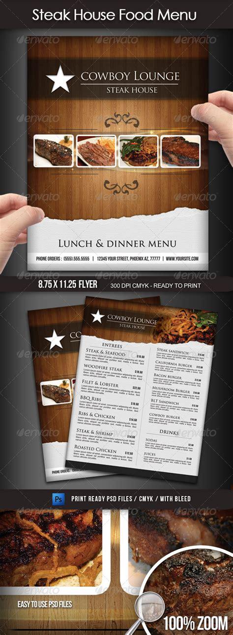 design menu steak steak house menu flyer by boca2600 graphicriver