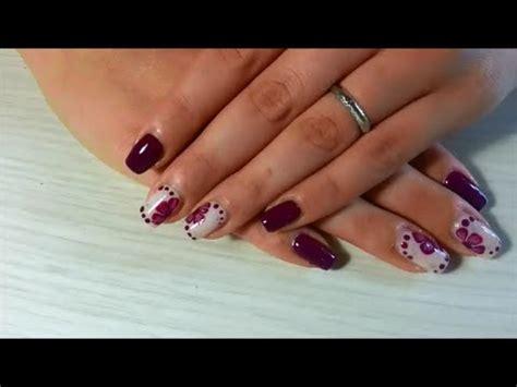 nail fiore strisciato nail fiore strisciato nail purple flower