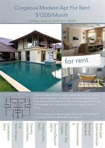 house rental flyer template flyer templates sles flyer maker publisher plus