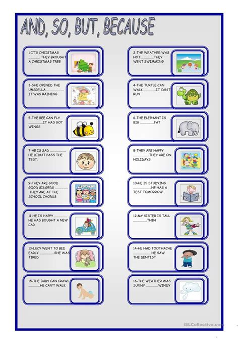 and so but because worksheets and so but because worksheet free esl printable worksheets made by teachers