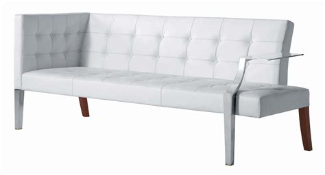 straight sectional sofas monseigneur straight sofa white leather by driade