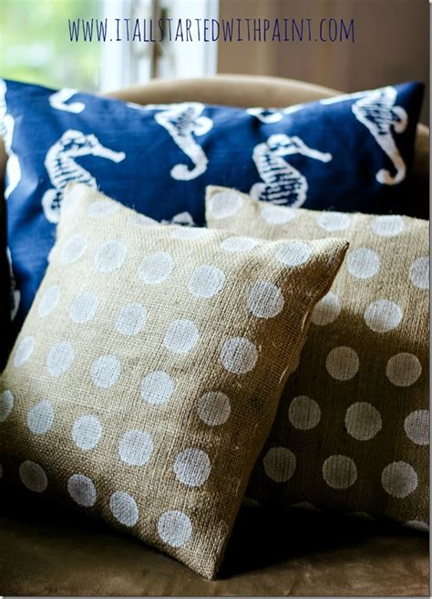 burlap pillows it all started with paint