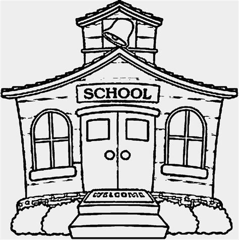 Awesome Library Building Coloring Pages