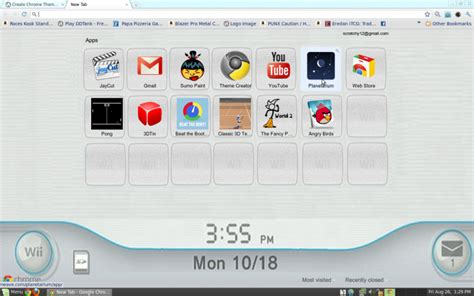 chrome theme reference wii theme 1 5 chrome theme themebeta