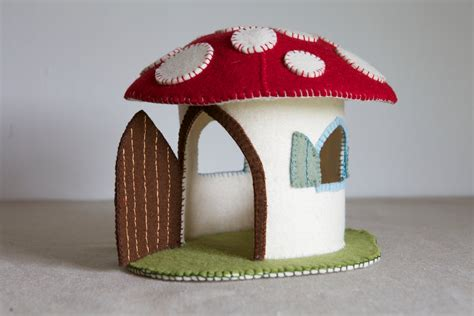 felt toadstool pattern toadstool felt house sewing pattern diy embroidery sewing