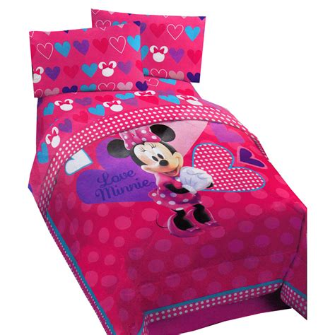 minnie mouse bedding full minnie mouse hearts bow tique twin comforter disney love pink polka dots blanket