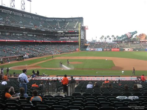 section 108 b 5 at t park section 108 san francisco giants