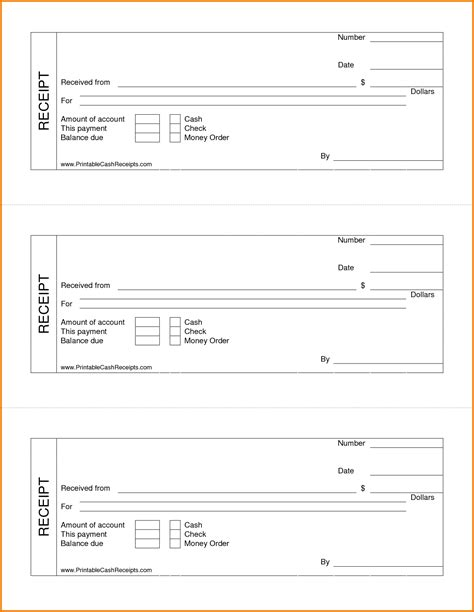 blank receipts template for home inspectors 6 blank receipts expense report
