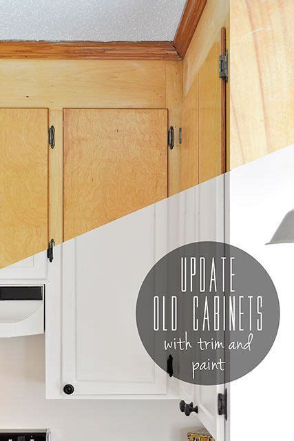 update flat cabinet doors update old flat front cabinets by adding trim to the doors