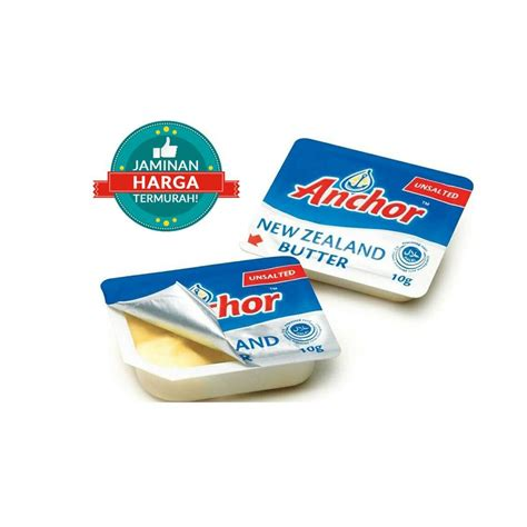 anchor unsalted butter mini portion  cup  pack elevenia