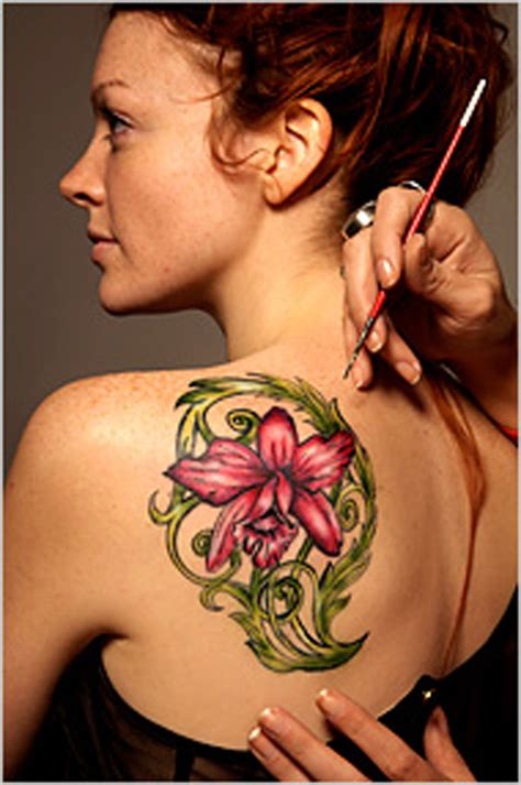 floral temporary tattoos designs symbols and meanings custom temporary