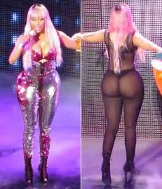 Massiv Bett by Nicki Minaj S In Sheer Jumpsuit Flashes During