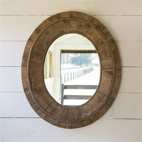Reclaimed Wood Mirror Oval ? Home Design Ideas : Reclaimed Wood Mirror Bathroom