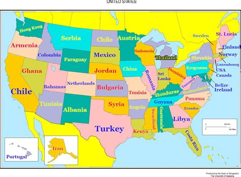 how many towns are in the us how smart is each state compared to other countries