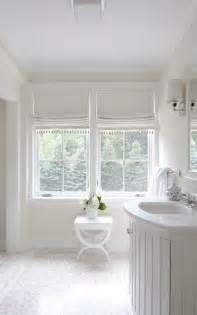 Powder Room Window Treatments Love The Roman Shades Interiors Bathrooms Amp Powder