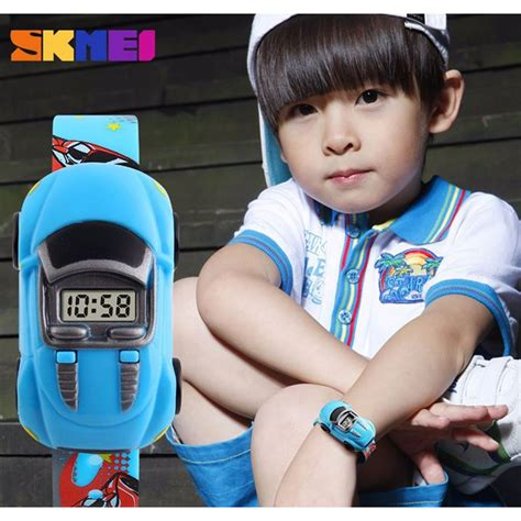 Jam Tangan Anak Karakter Cars Skmei Dg1241 skmei jam tangan led anak anak bentuk mobil dg1241 yellow jakartanotebook