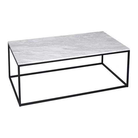 Black Rectangular Coffee Table Buy White Marble And Black Rectangular Coffee Table From Fusion Living