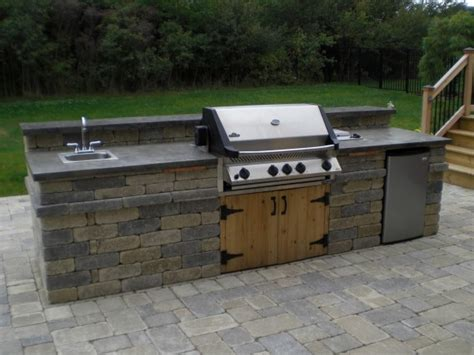 Patio Kitchen Grill An Outdoor Kitchen With Napoleon Grill Sink And Fridge