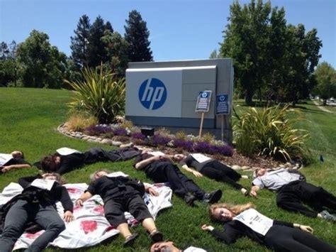 boycott israel protesters die in at hp hewlett packard in