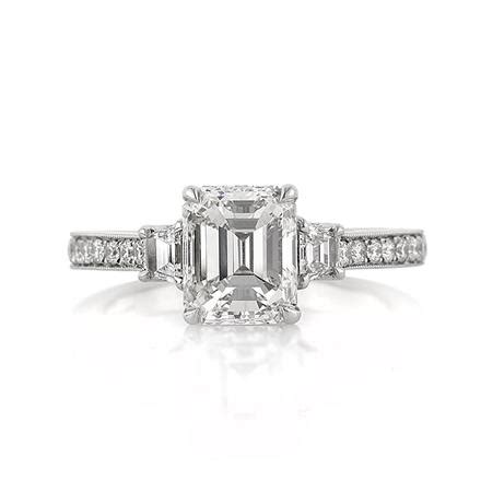 2 81ct emerald cut engagement ring
