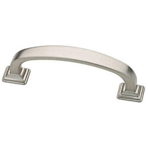 kitchen cabinet hardware home depot martha stewart living 3 in 76mm bedford nickel ribbon