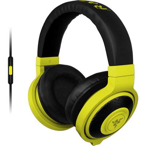 Headset Gaming Warwolf R3 razer kraken mobile headphones neon yellow rz04 01400200