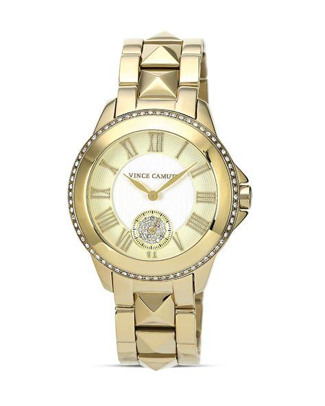 vince camuto s gold tone studded bracelet