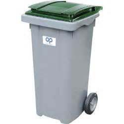 poubelle de rue 240 l h 107 5 x l 58 x p 72 5 cm leroy