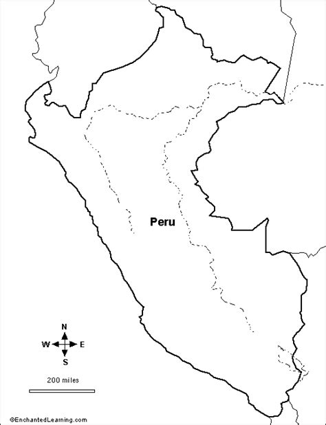 Coloring Page Map Of Peru | outline map research activity 2 peru